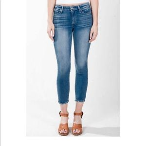 Paige Hoxton Crop Destroyed Hem Jeans- ChicEwe
